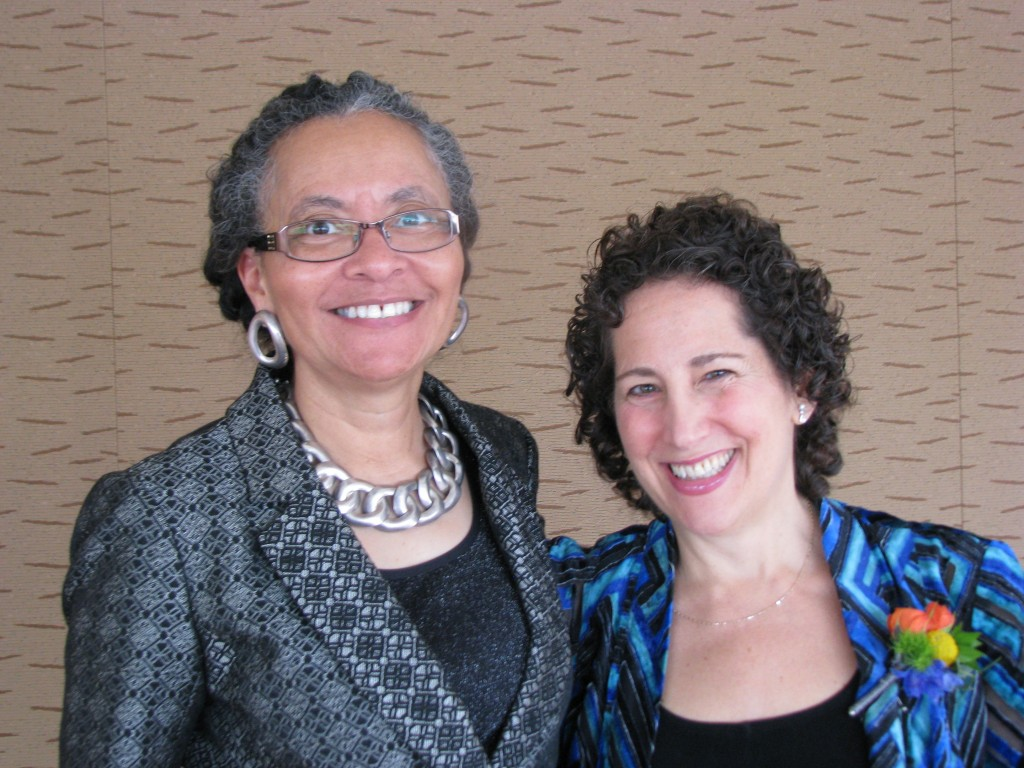 Paula Maccabee and American Public Health Association President, Dr. Camara Jones